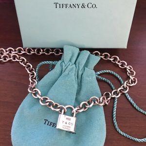 Tiffany & Co. Jewelry - Tiffany Sterling Silver 1837 Lock Pendant Necklace